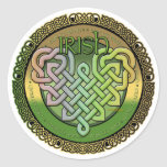 Irish Celtic knots - St Patrick's day Round Sticker