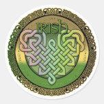 Irish Celtic knots - St Patrick's day Round Sticker