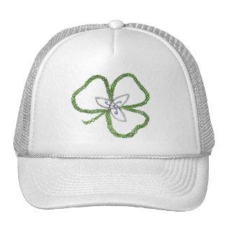 Irish Celtic Shamrock Knot Cap