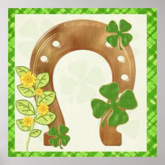 Irish Charm Whimsical Folk Art Print