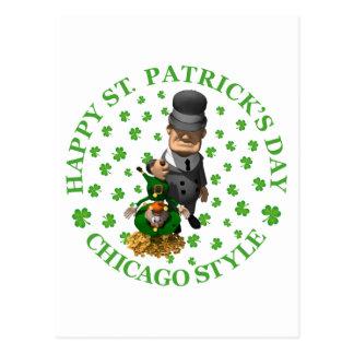 IRISH chicago style copy Postcard