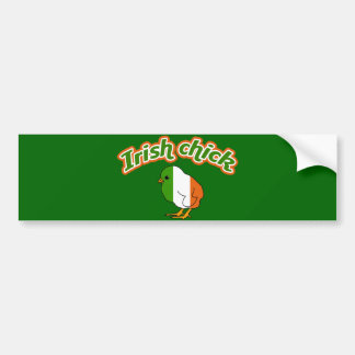 Irish chick bumper sticker