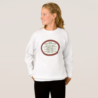 Irish Christmas Blessing, Red Green Celtic Holiday Sweatshirt