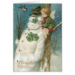 Irish Christmas Cards, Vintage Christmas Greeting Card