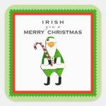 Irish Christmas decorations Square Sticker