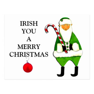 Irish Christmas greetings Postcard