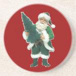 Irish Christmas Santa Claus Drink Coasters