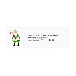 Irish Christmas Santa Claus mailing labels