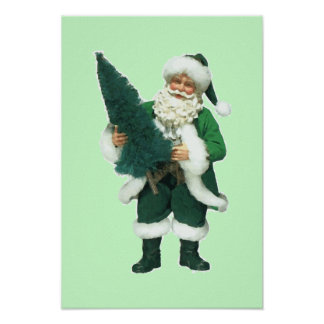 Irish Christmas Santa Claus Poster