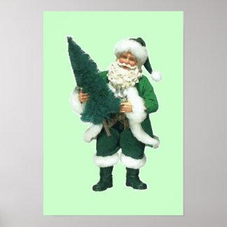 Irish Christmas Santa Claus Posters