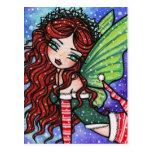 Irish Christmas Winter Snowflake Fairy Fantasy Gir Post Cards