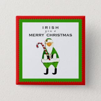 Irish Christmas wish 15 Cm Square Badge