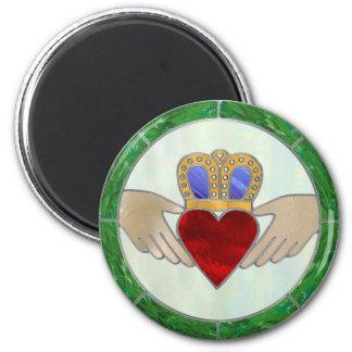 Irish Claddagh 6 Cm Round Magnet