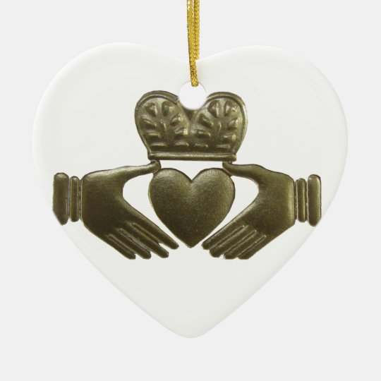 Irish Claddagh Christmas Ornament