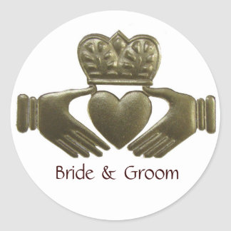 Irish Claddagh Gold Wedding Seals