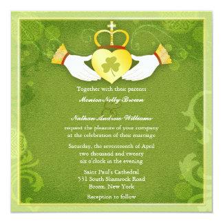 Irish Claddagh Heart Formal Celtic Wedding Invites
