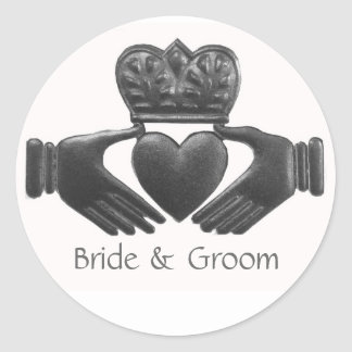 Irish Claddagh Love Symbol Classic Round Sticker