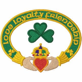 Irish Claddagh Ring Embroidered Hooded Sweatshirt