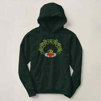 Irish Claddagh Ring Embroidered Hoodie