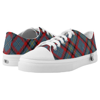Irish Clan MacNamara McNamara Tartan Plaid Printed Shoes