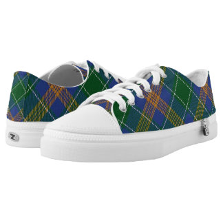 Irish Clan McAuliffe MacAuliffe Tartan Low Tops
