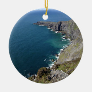 Irish Cliffs In Dingle Ireland By The Ocean Christmas Ornament