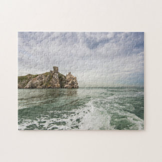 Irish cliffs under a cloudy sky jigsaw puzzle