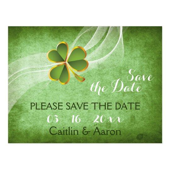 Irish clover and veil green wedding Save the