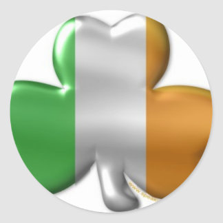 irish clover classic round sticker