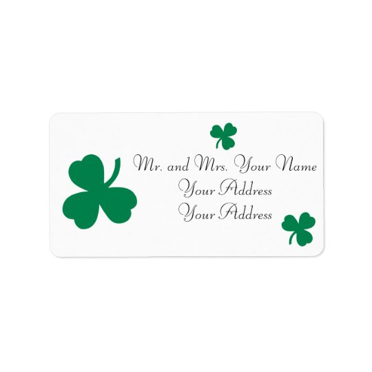 Irish Clover Custom Avery Address Labels