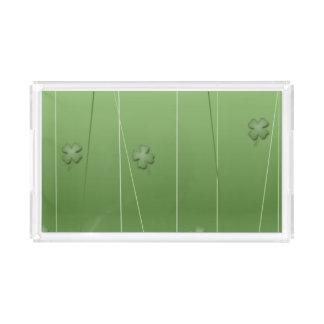 Irish Clover Design Acrylic Tray