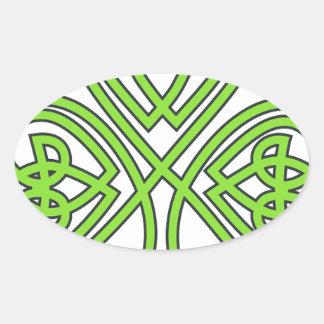Irish clover lucky luck shamrock Ireland green Oval Sticker