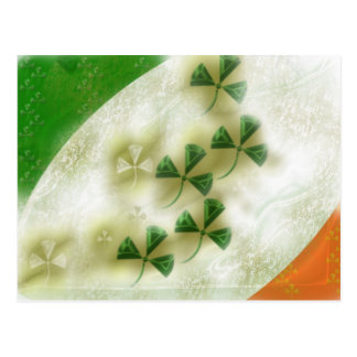 irish clover postcard