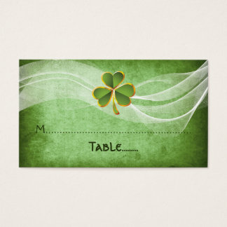 Irish clover & veil green Irish wedding place card