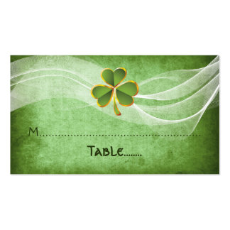 Irish clover & veil green Irish wedding place card Pack Of Standard Business Cards