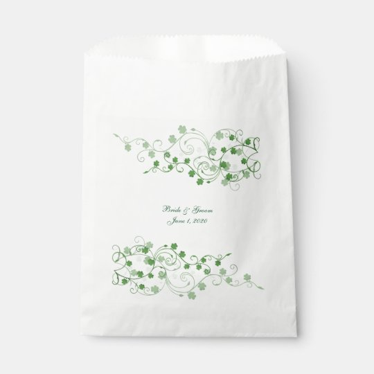 Irish Clover Wedding favour bags