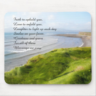 Irish Coastline and Blessing Mousepad
