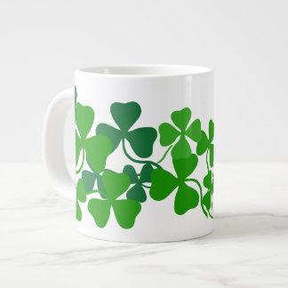 Irish coffee shamrock, green clover (add a name) large coffee mug