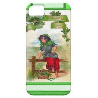 Irish colleen selling shamrocks iPhone 5 cases