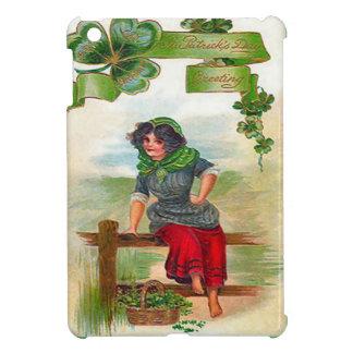 Irish colleen selling shamrocks iPad mini case