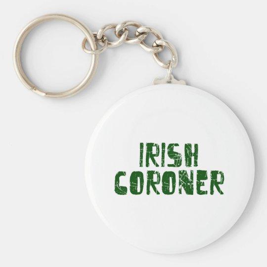 Irish Coroner Basic Round Button Key Ring