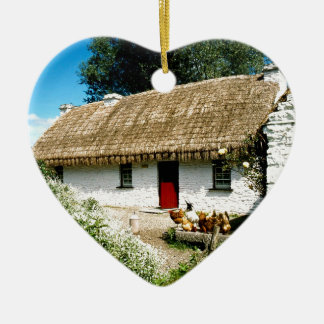 Irish cottage christmas ornament