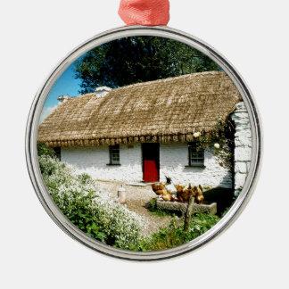 Irish cottage christmas ornament