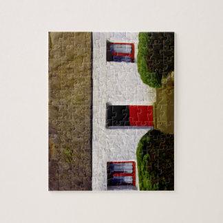 Irish Cottage Puzzle with Tin