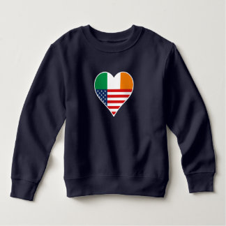 Irish country, Irish - America, the USA. Heart, Sweatshirt
