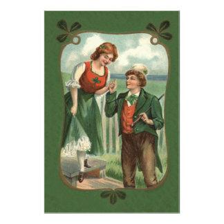 Irish Couple Shillelagh Shamrock Photo
