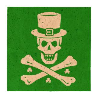 Irish Crossbones Drink Coaster