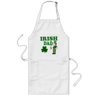 Irish Dad With Green Beer and Pipe Long Apron