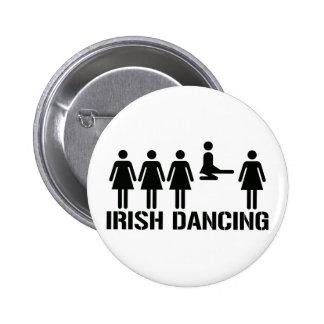 Irish dance 6 cm round badge
