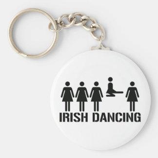 Irish dance basic round button key ring